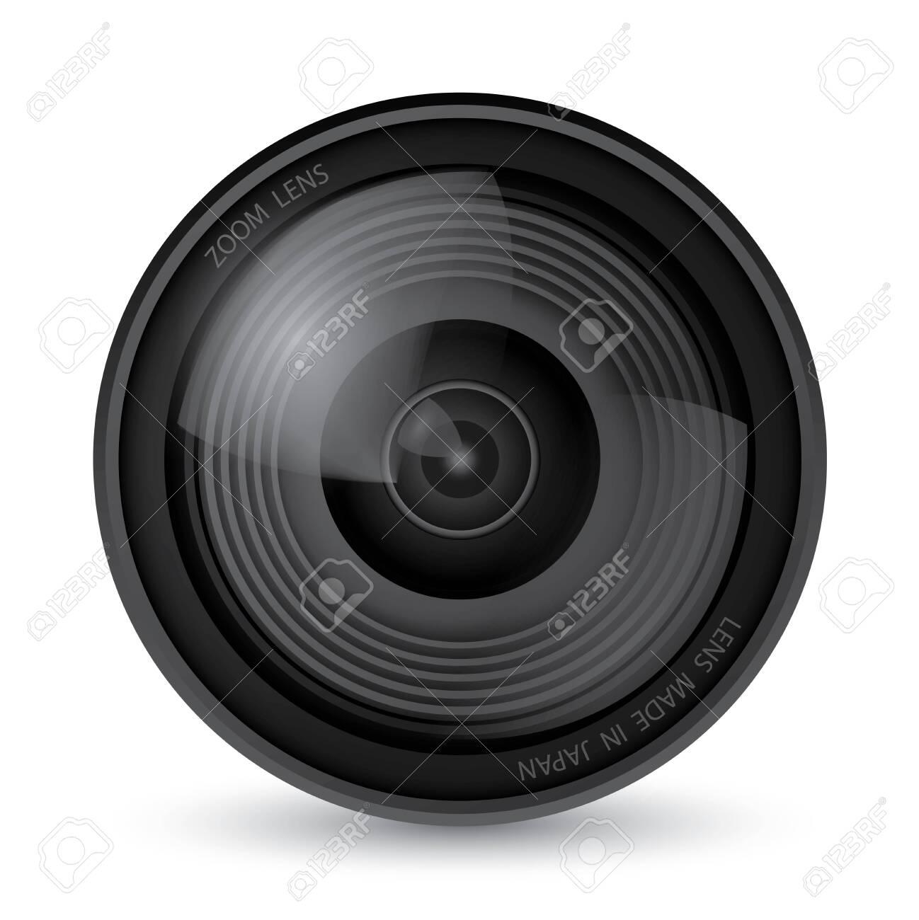 Camera lens over white background, Illustration Vector 10 - 120141031