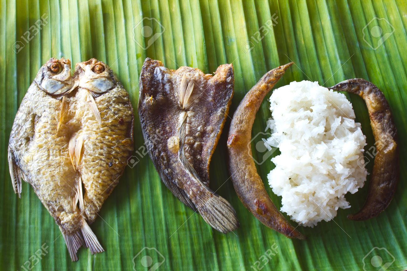Freshwater fish diet - Freshwater Fish Fried Salty Taste The Food Of The Villagers Stock Photo