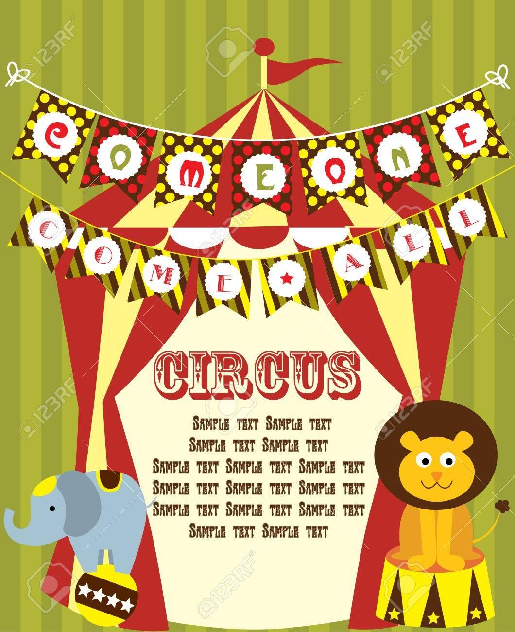cute circus card design  vector illustration Stock Vector - 19252199
