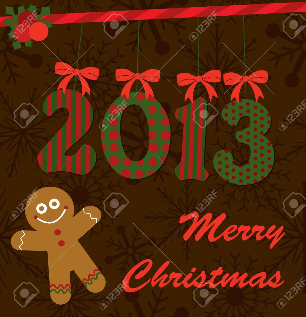 merry christmas card design  vector illustration Stock Vector - 19252424