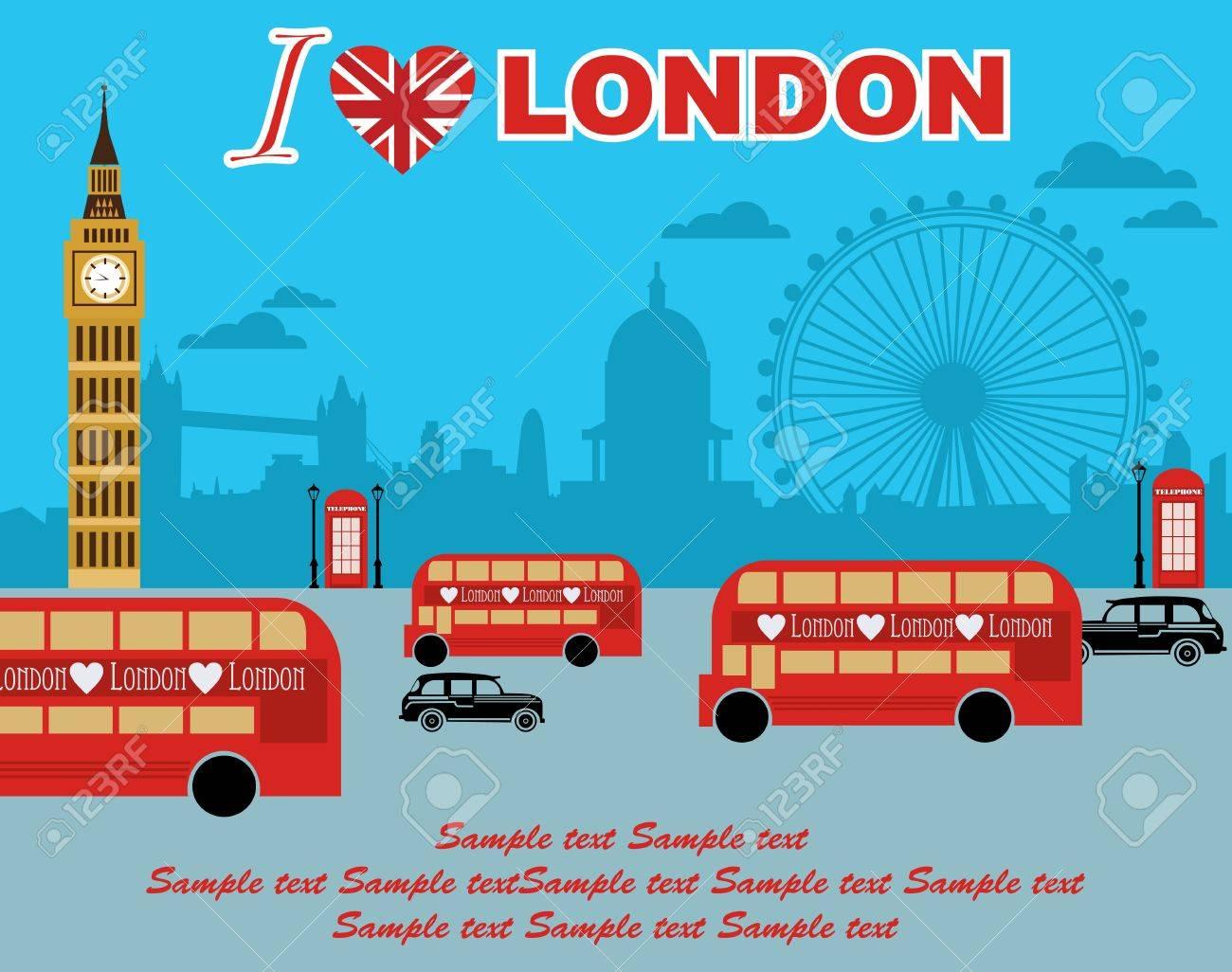 I love London card design. vector illustration Stock Vector - 19252403