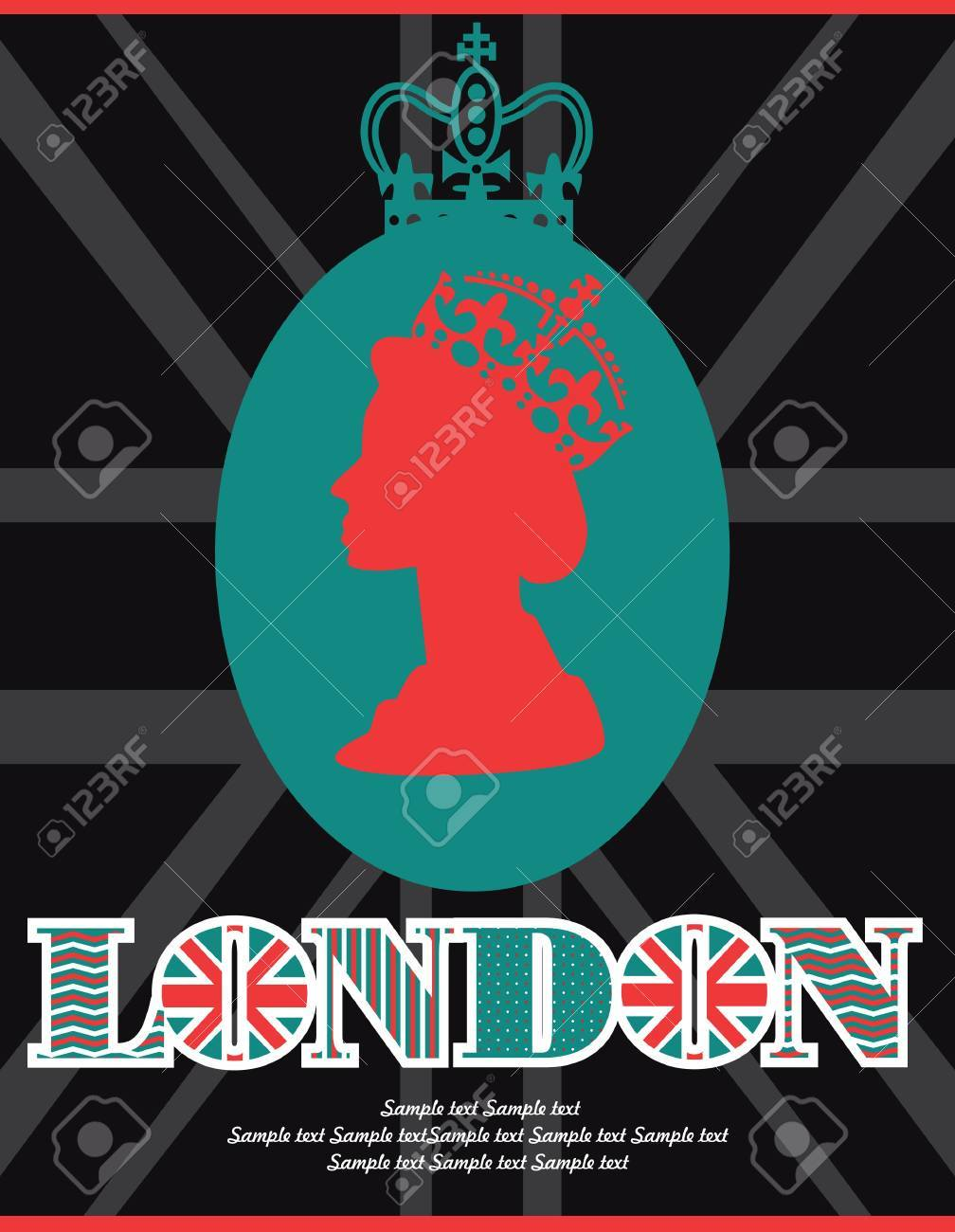 London card design. vector illustration Stock Vector - 19252261