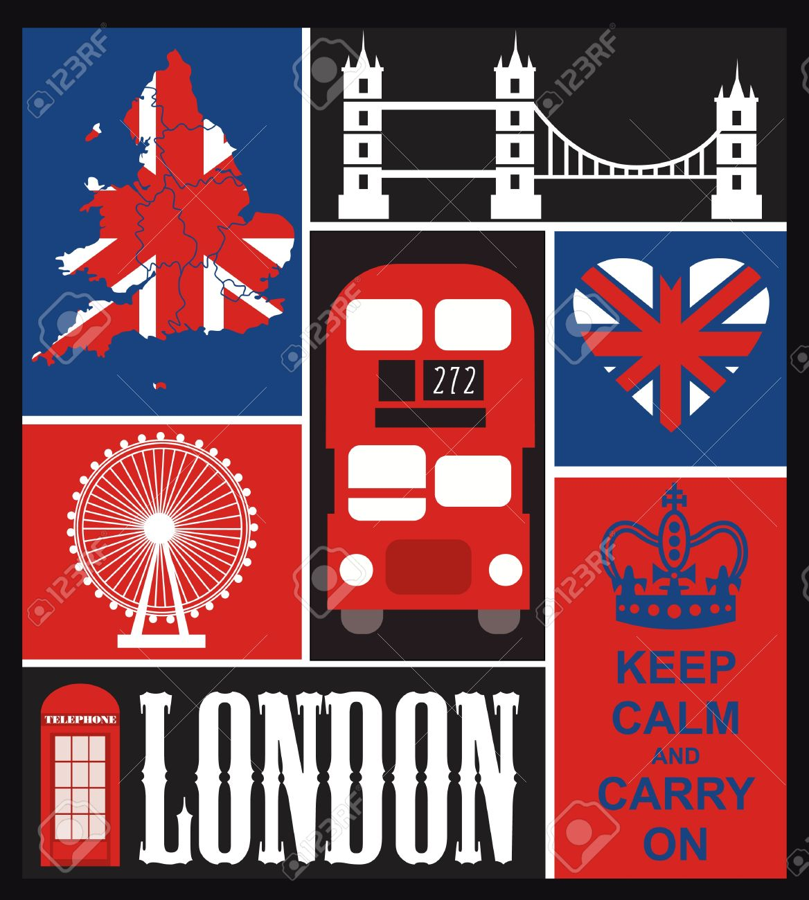 London card design. vector illustration Stock Vector - 19252212