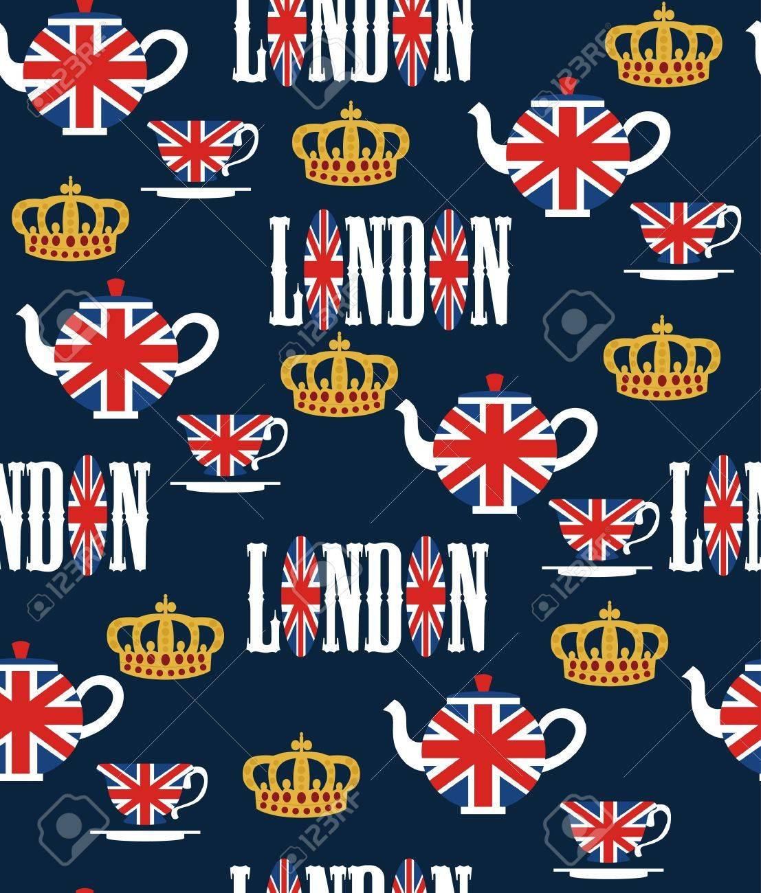 london seamless pattern design  vector illustration Stock Vector - 19252238