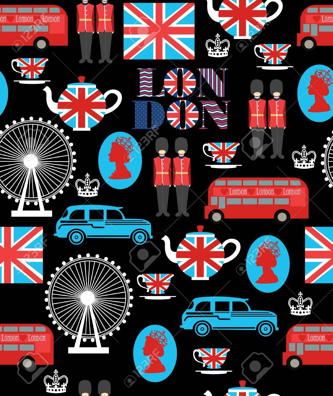 london seamless pattern design  vector illustration Stock Vector - 19252278