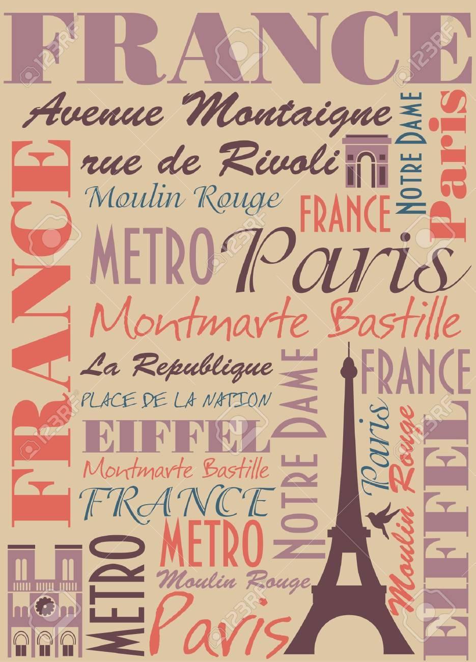 Paris card design  vector illustration Stock Vector - 19252518