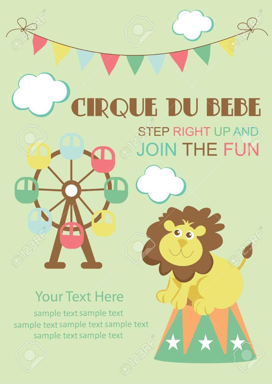 fun circus card  illustration Stock Vector - 19252206