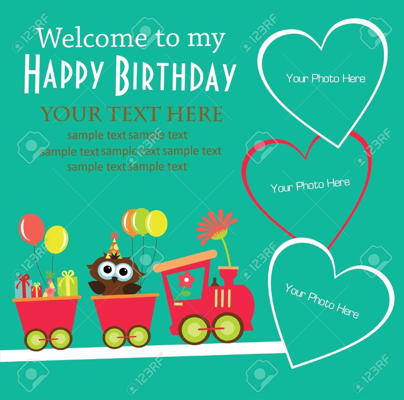 Kids Invitation Cards birth greeting cards design – Kids Birthday Card Invitations