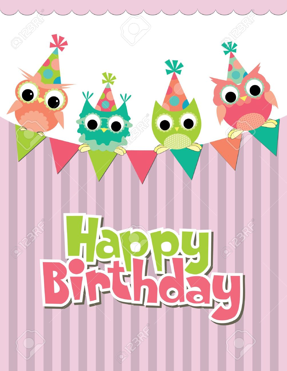 happy birthday card design vector illustraton royalty free, Birthday card