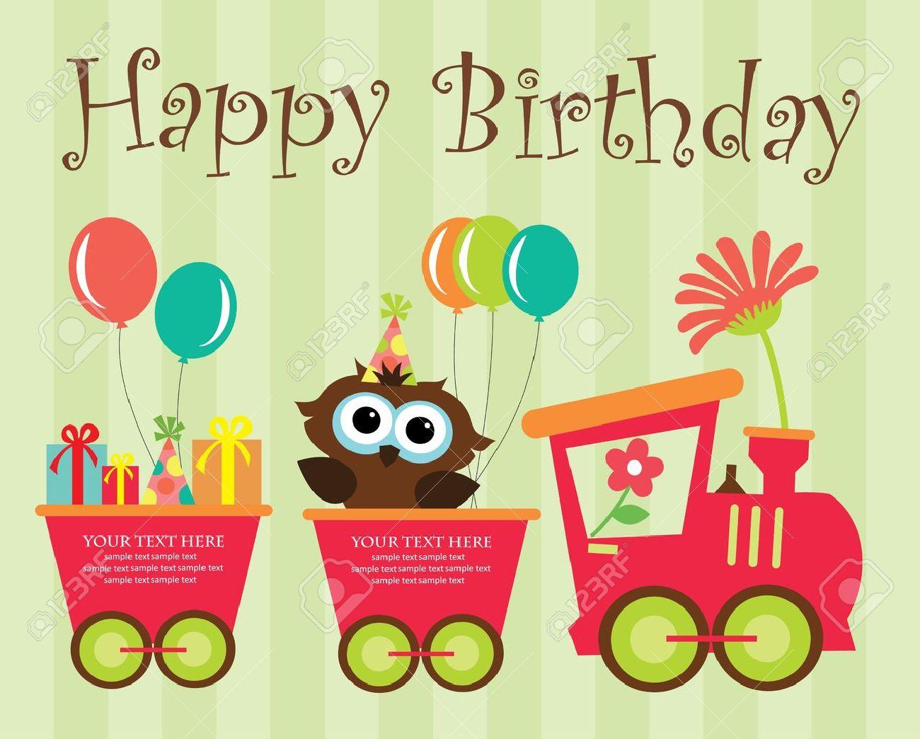 Happy Birthday Card Design. Vector Illustration Royalty Free ...