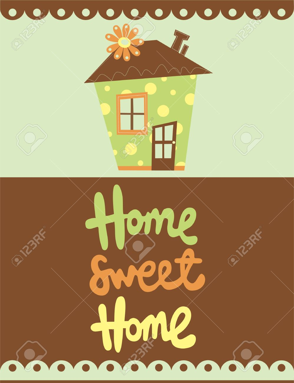 home sweet home card  vector illustration Stock Vector - 20196362