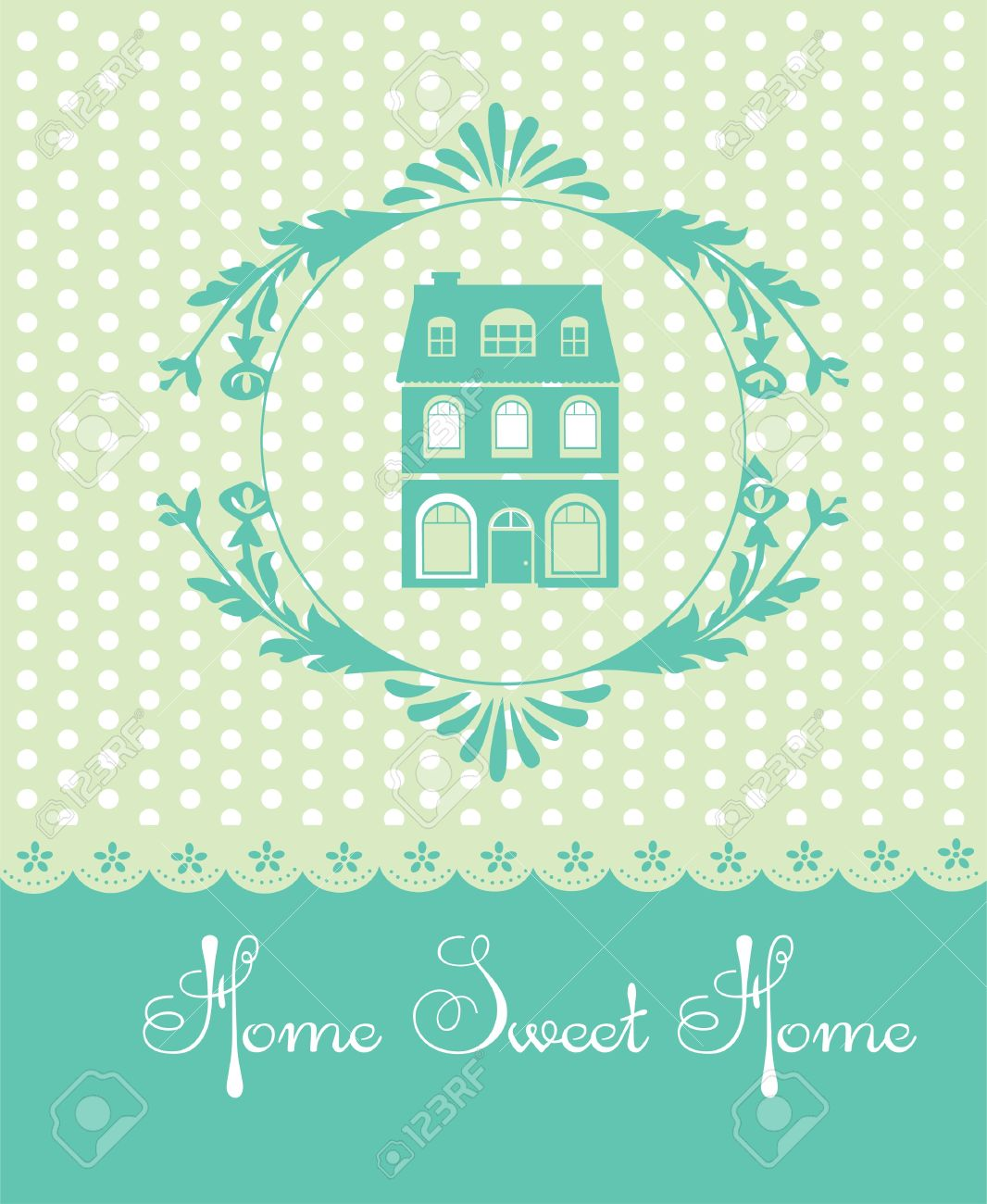 Home Sweet Home Vintage home sweet home card vector illustration royalty free cliparts