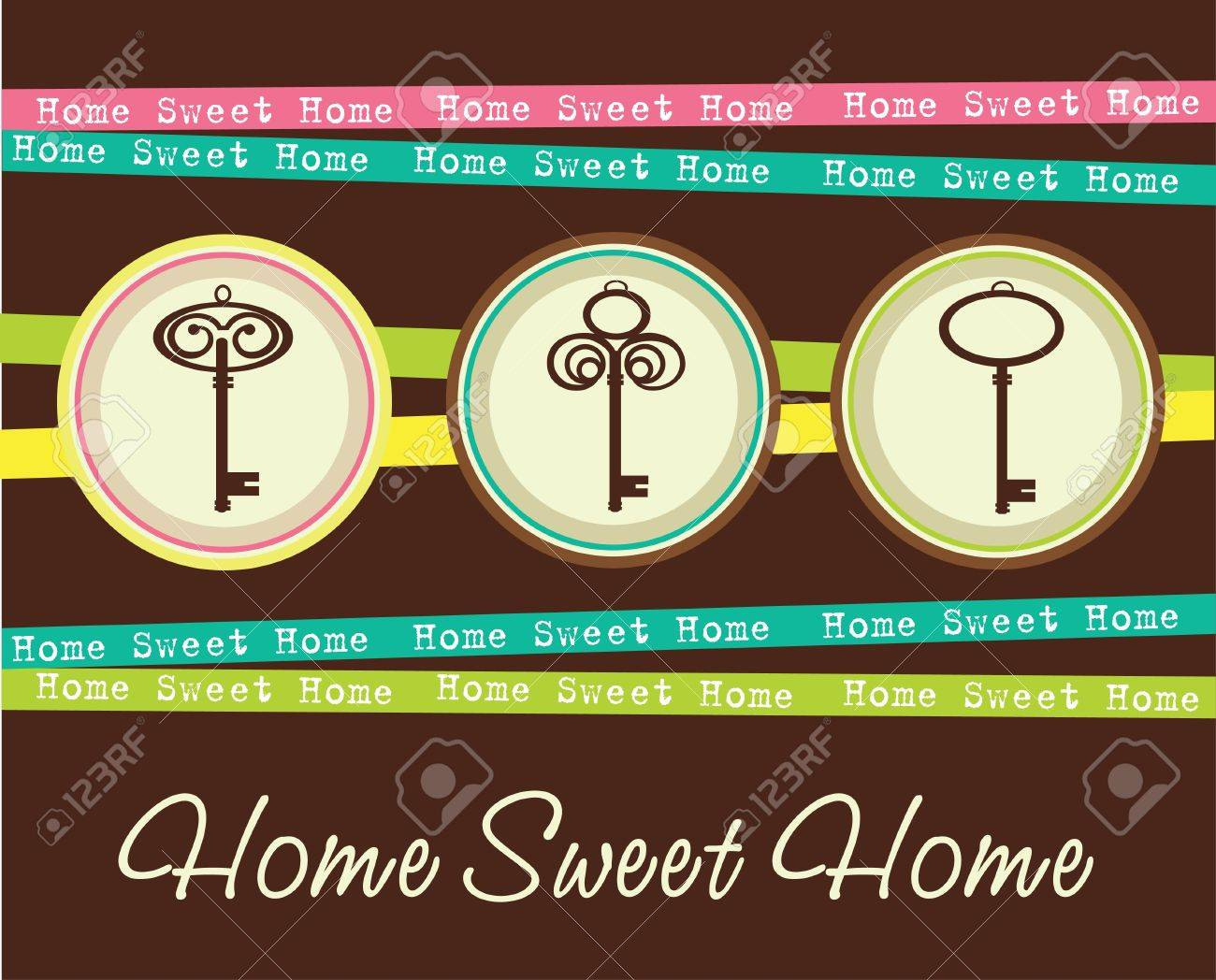 home sweet home card  vector illustration Stock Vector - 20190741