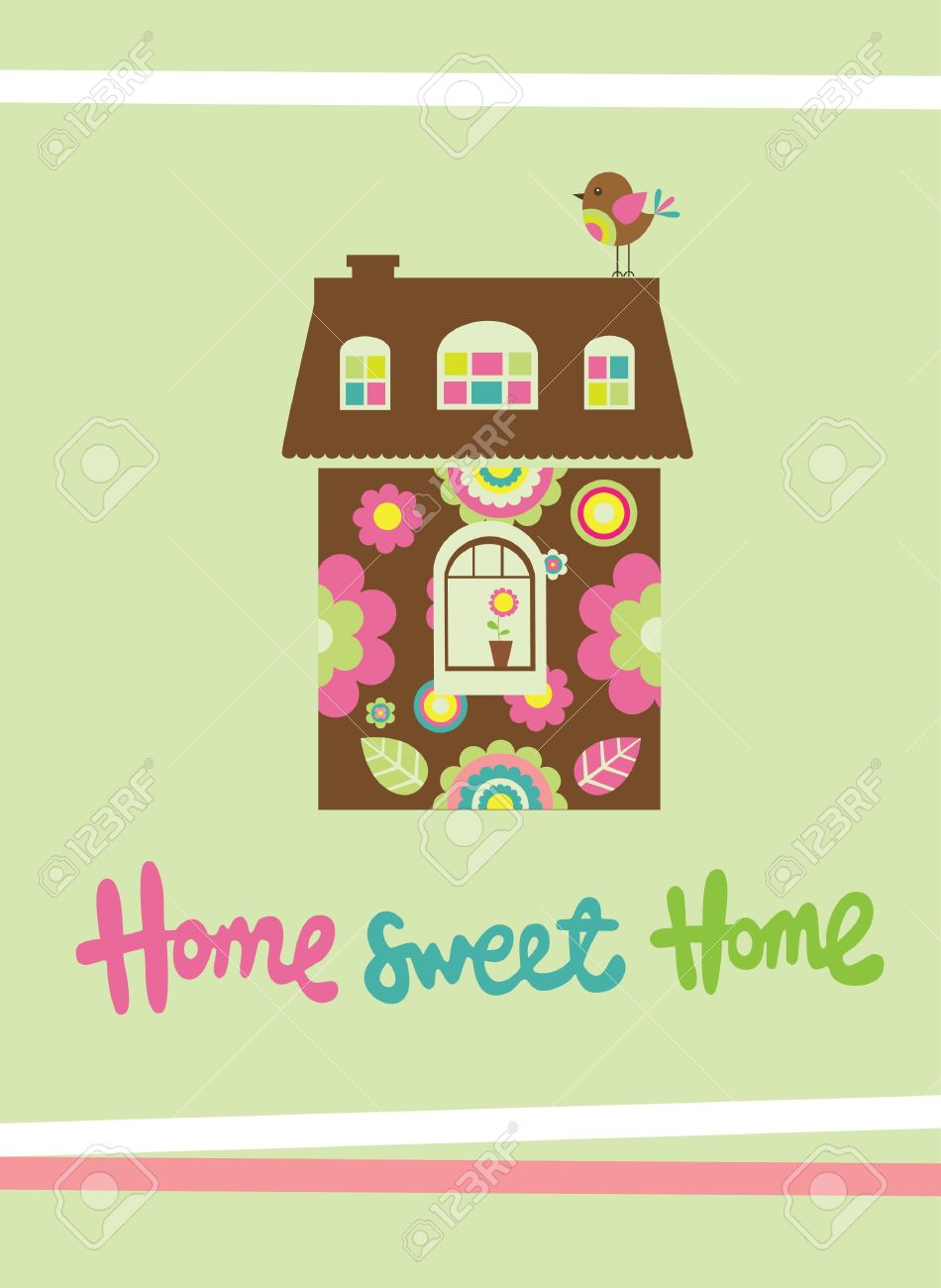 home sweet home card  vector illustration Stock Vector - 20196330