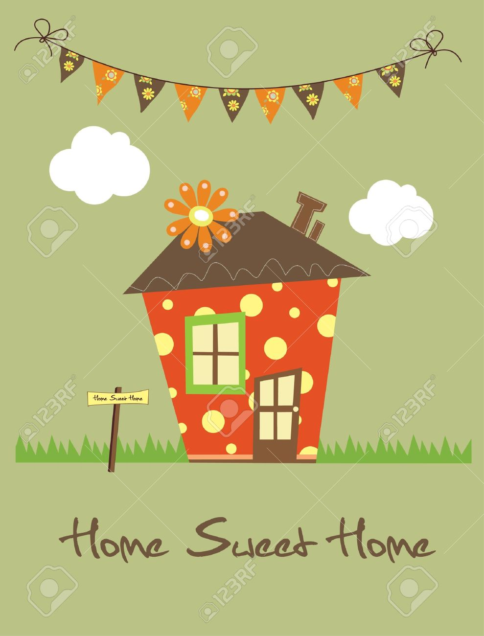 home sweet home card  vector illustration Stock Vector - 20196382