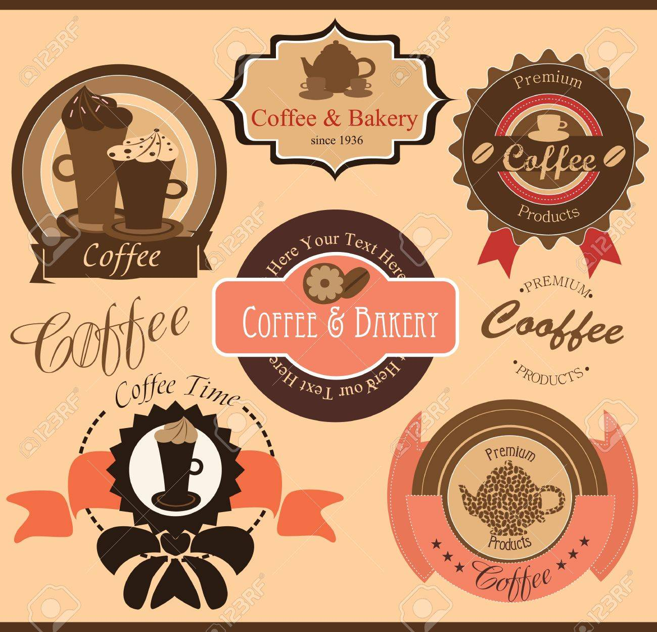 coffee set  vector illustration Stock Vector - 20191256