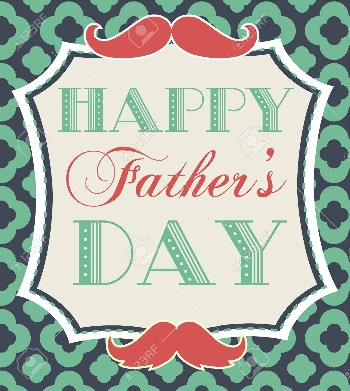 happy father u0027s day card design illustration royalty free cliparts