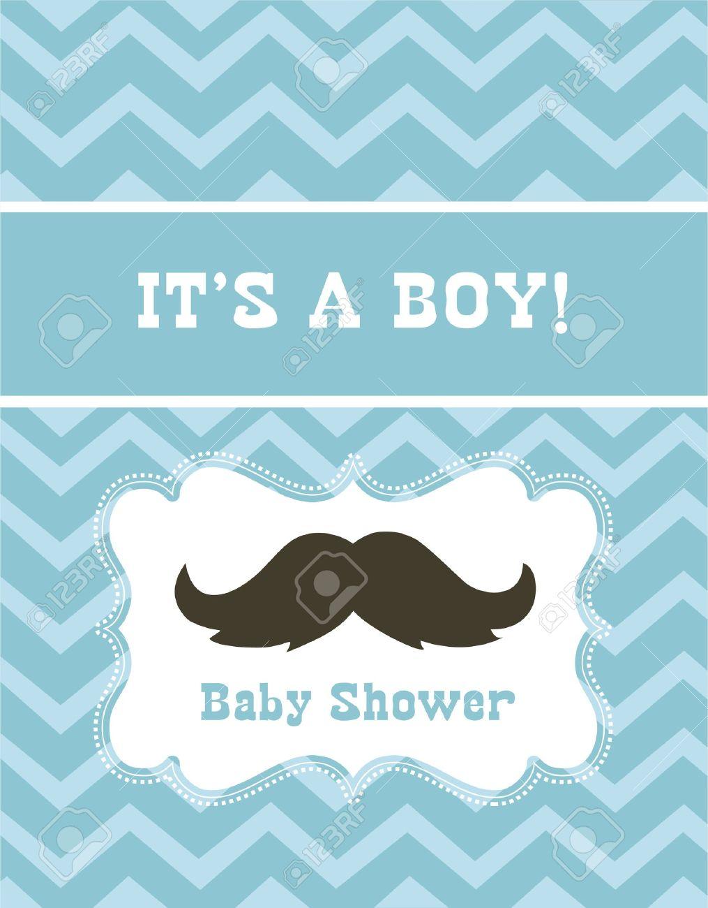 Baby Boy Shower Vector Illustration Royalty Free Cliparts Vectors