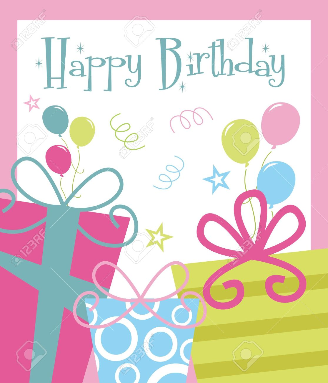happy birthday greeting card illustration royalty free cliparts, Birthday card