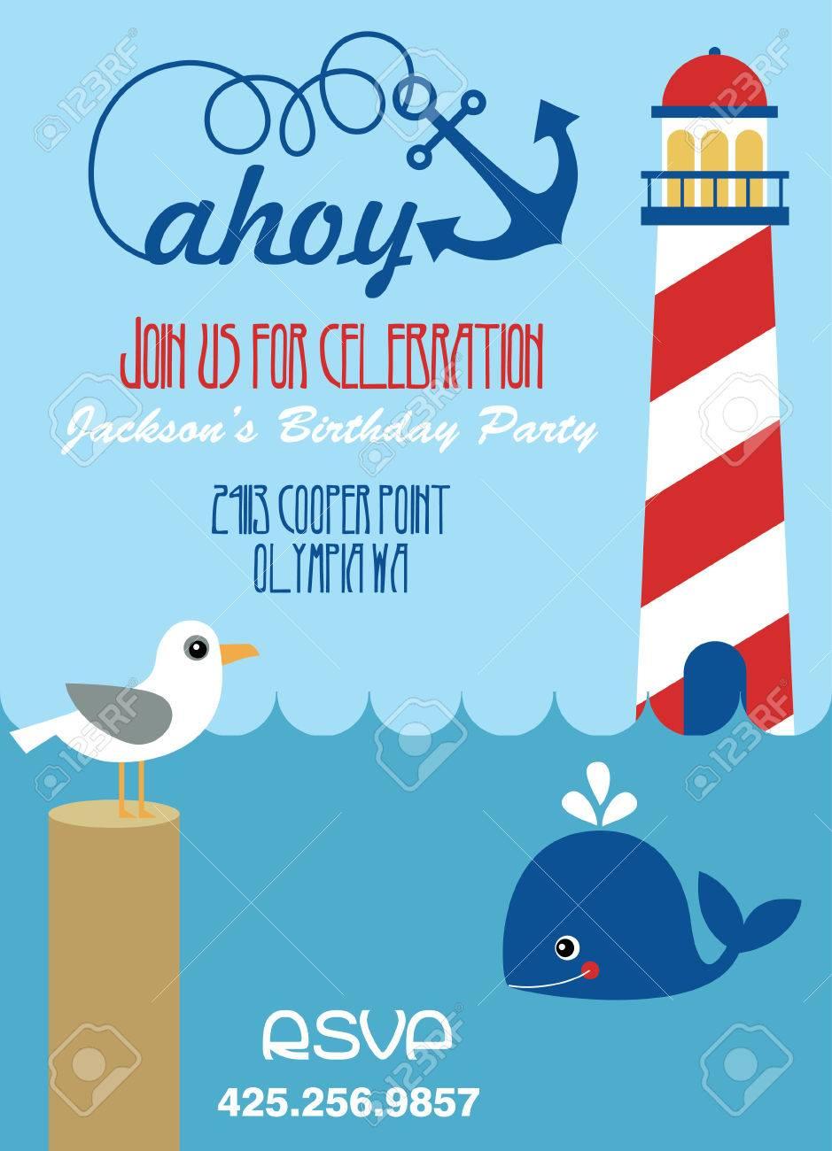 286 Ahoy Sea Stock Vector Illustration And Royalty Free Ahoy Sea ...