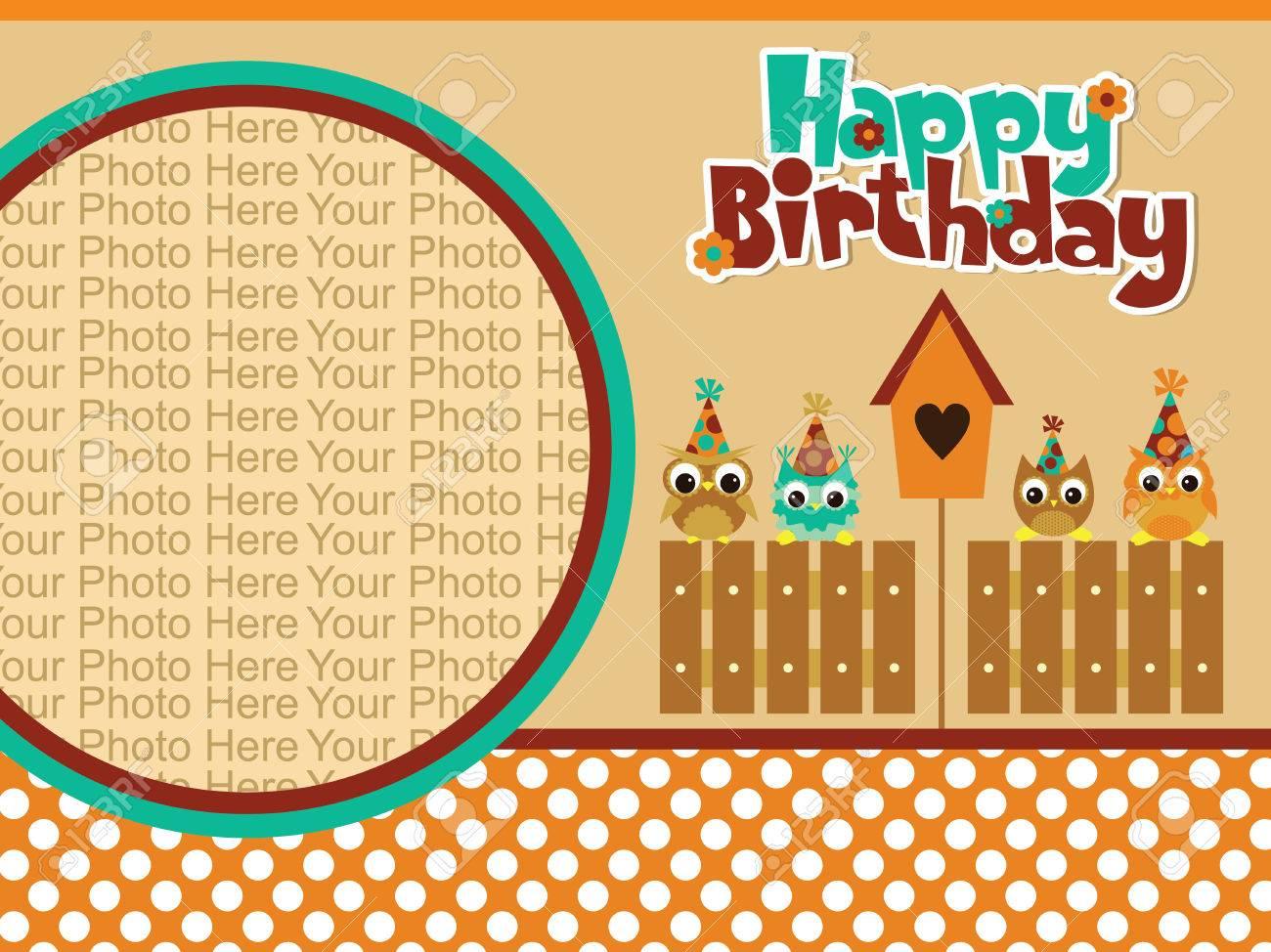 Happy birthday invitation card design vector illustration royalty happy birthday invitation card design vector illustration stock vector 26905971 stopboris Gallery