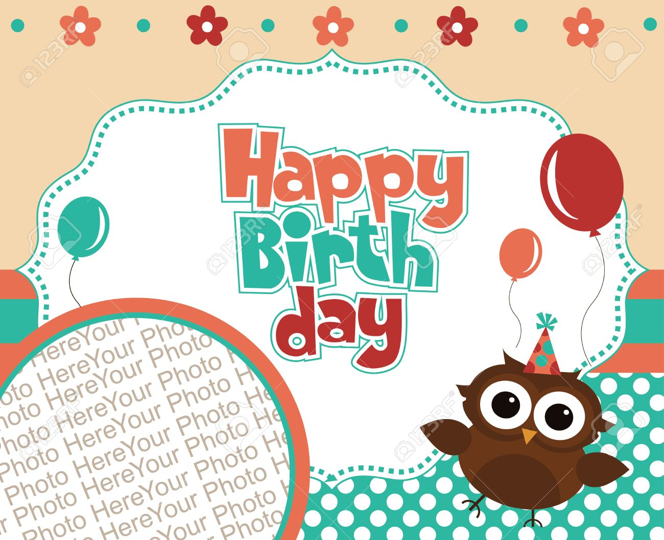 Happy Birthday Invitation Card Design Vector Illustration Royalty – Happy Birthday Invite