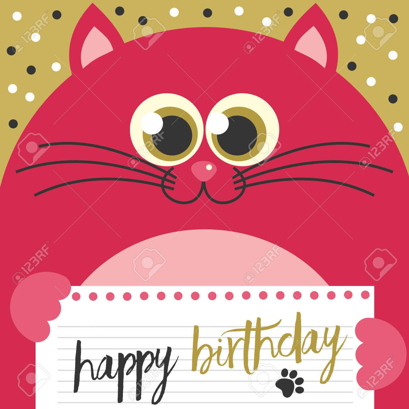 cute creative cards templates with happy birthday theme design
