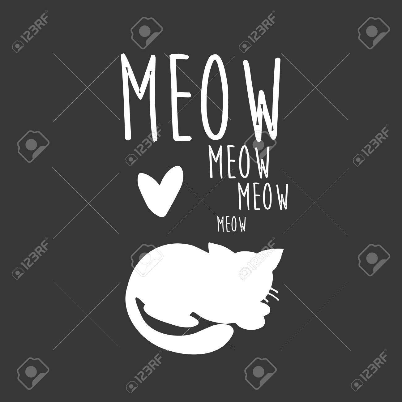 猫イラストt シャツのグラフィック黒と白かわいい猫の画像猫の