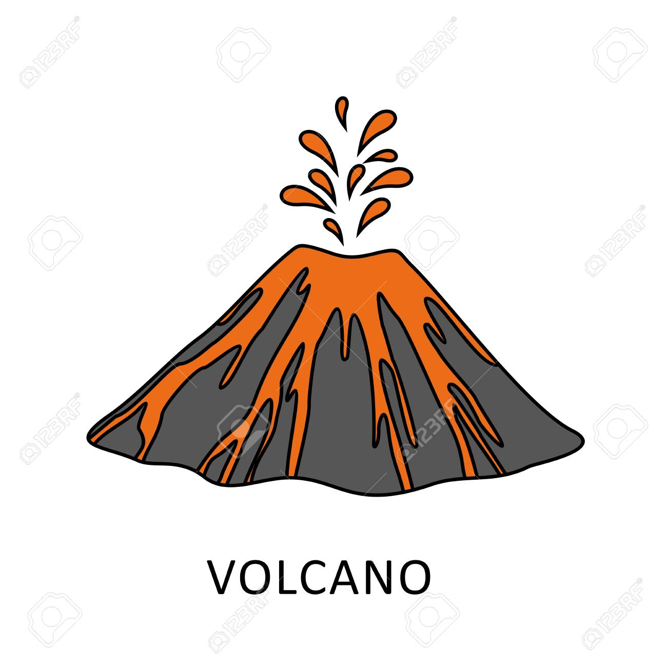 Free Clipart Volcano Eruption Pictures