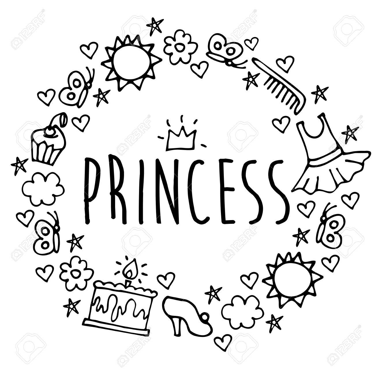 Princess Greeting Card Postcard Poster Birthday Invitation Typography