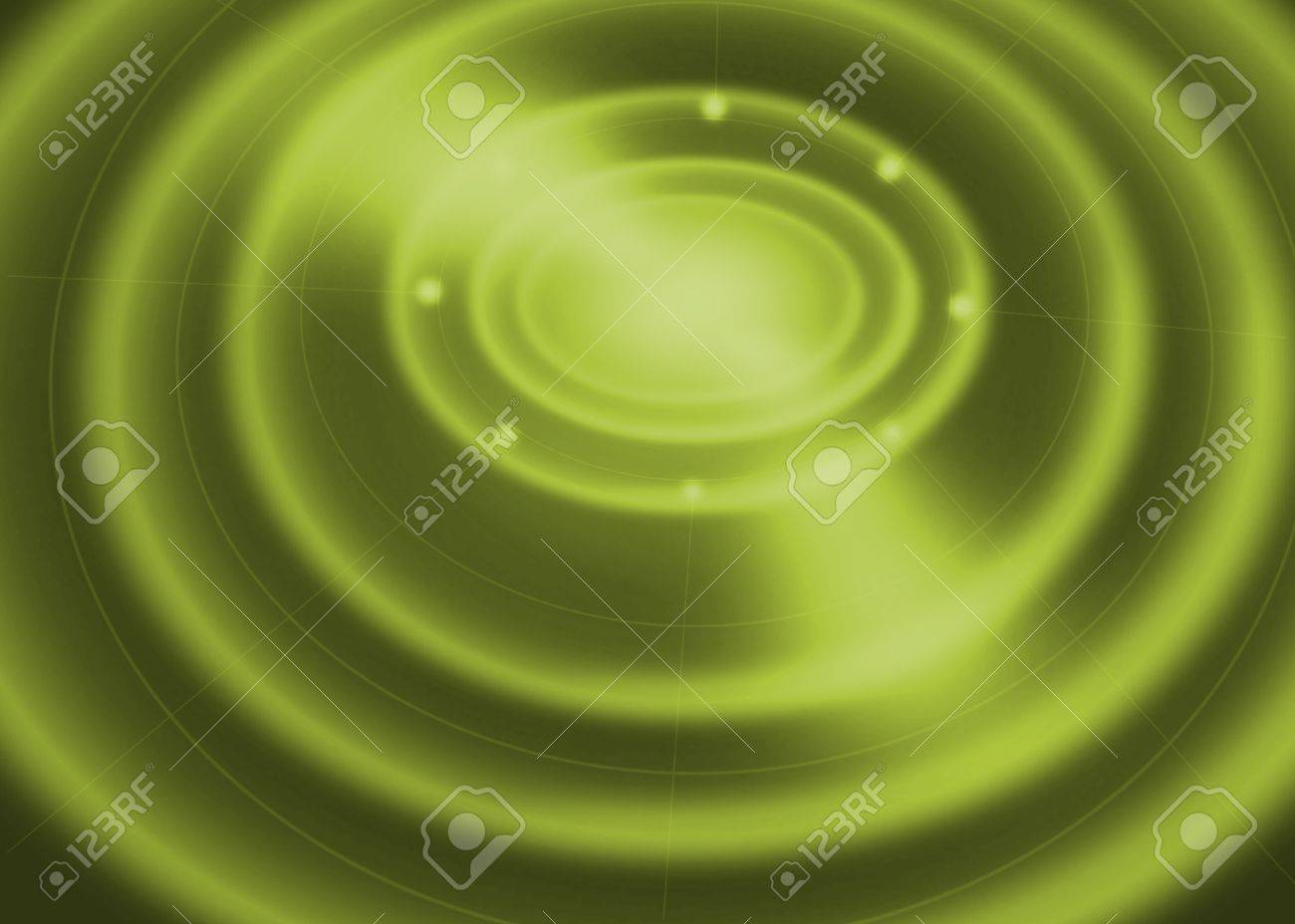 abstract wave light, green background Stock Photo - 19140628