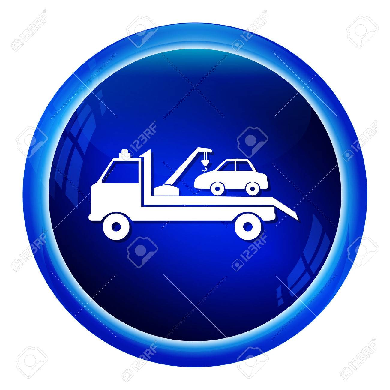 Car Towing Truck Icon Vector Illustration Royalty Free Cliparts