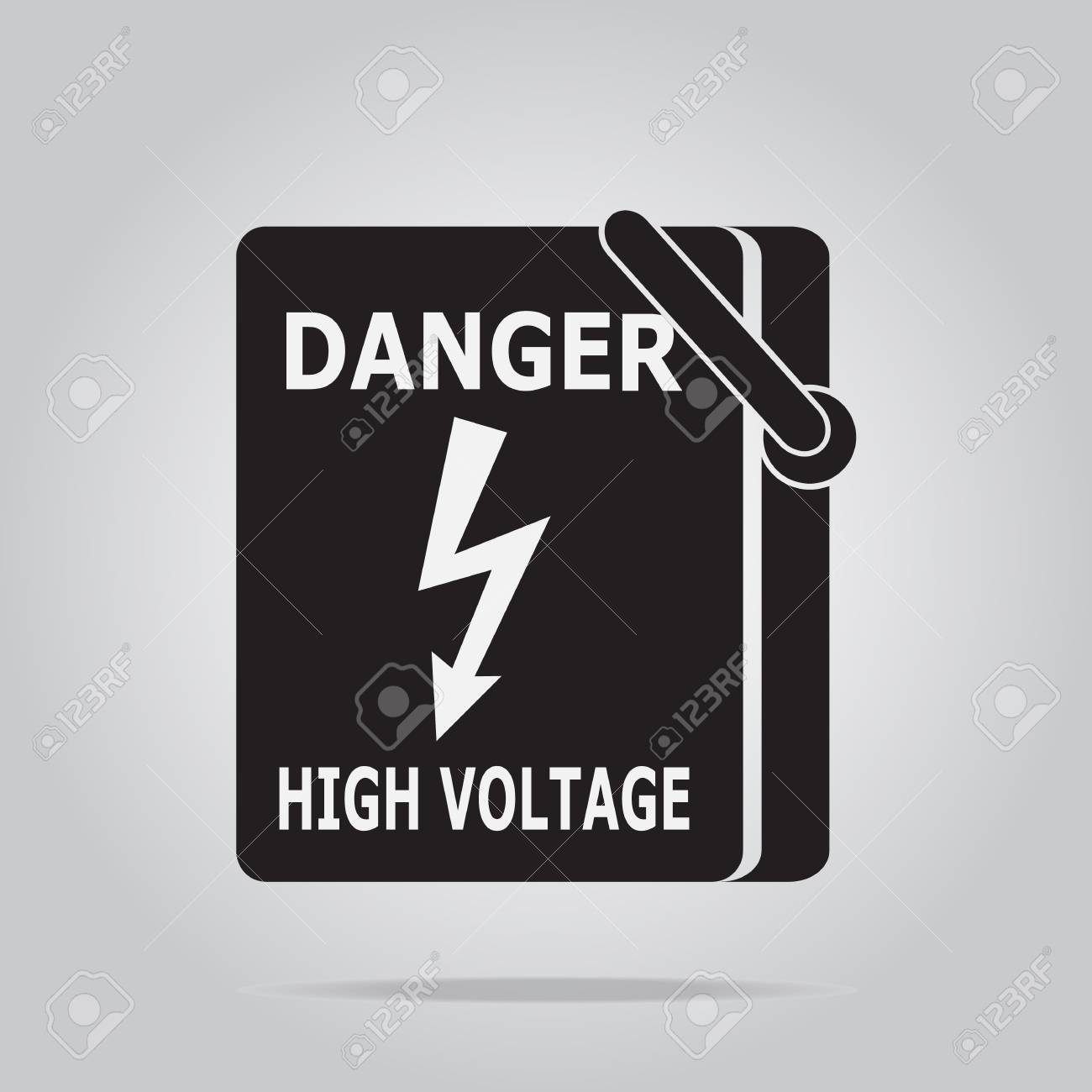 Electrical Switch The Power Voltage Symbol, Warning Sign Royalty ...