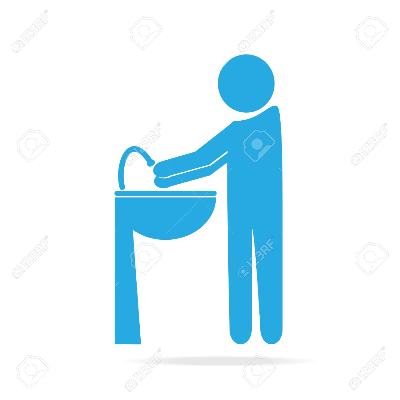 Wash Your Hands Icon Cleaning Icon Royalty Free Cliparts Vectors