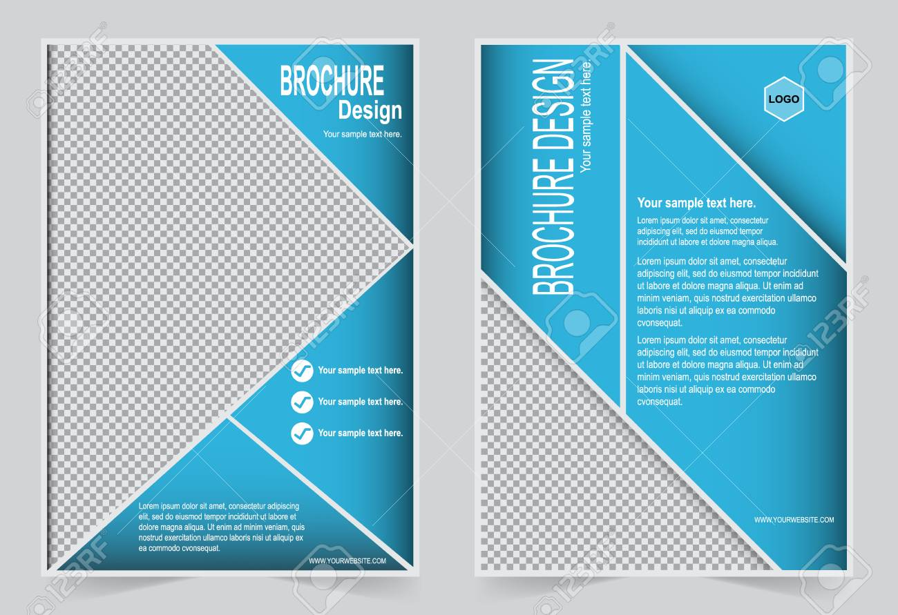 Azure Flyer Template | Blue Brochure Template Flyer Design Abstract Template For Annual