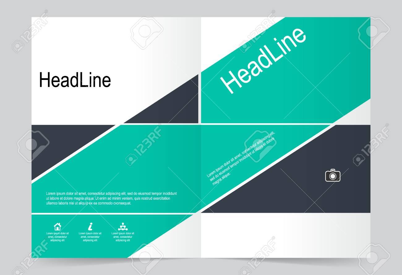 Green Cover Template Background Flyer Design Modèle Abstrait Pour Rapport D Activité Annuel Affiche