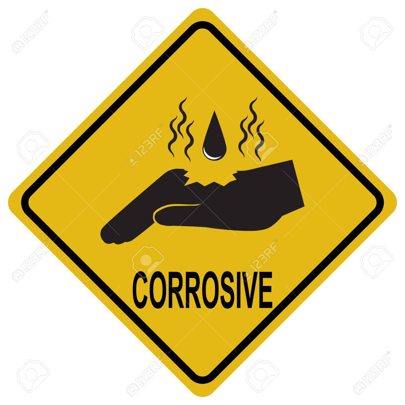 Hand corrosive warning sign safety concept royalty free cliparts hand corrosive warning sign safety concept stock vector 80975047 biocorpaavc