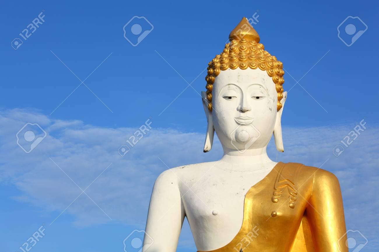 Big White Buddha Over Nice Blue Sky Stock Photo - 7947674