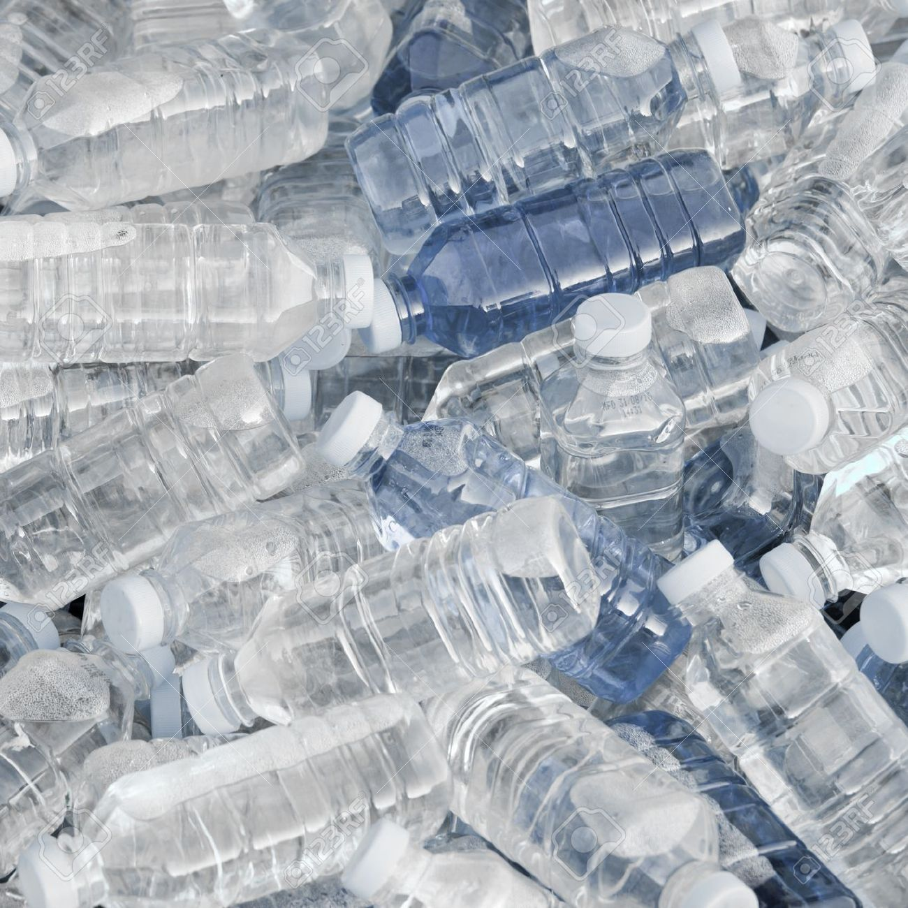 Pile of fresh water bottles Stock Photo - 8012576