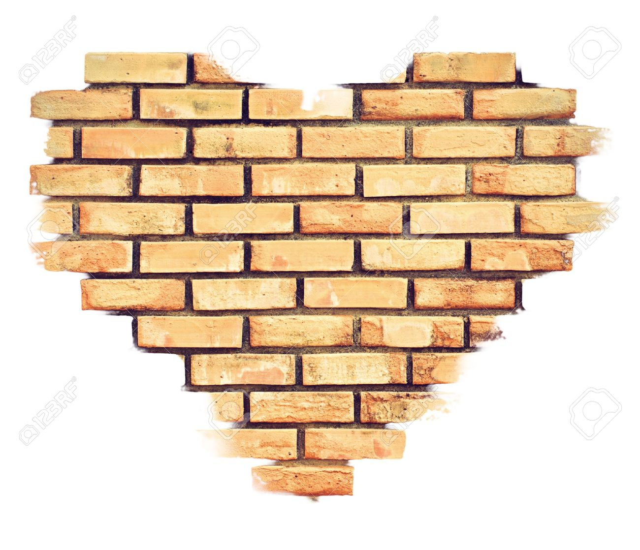Heart Brick Stock Photo, Picture And Royalty Free Image. Image 8695740.