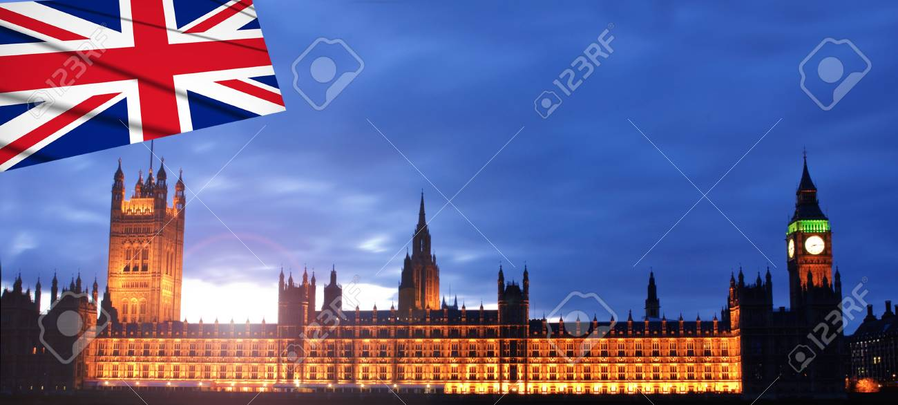 Sunset at the palace of westminster Stock Photo - 13066646