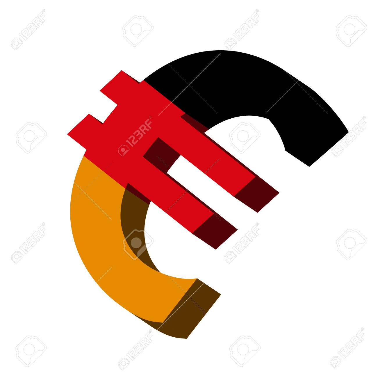 3d Illustration Of The Euro Symbol With Germany Flag Royalty Free