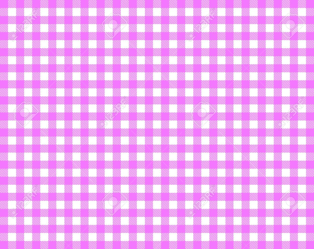Pink White Checkered Tablecloth Stock Photo   13753745