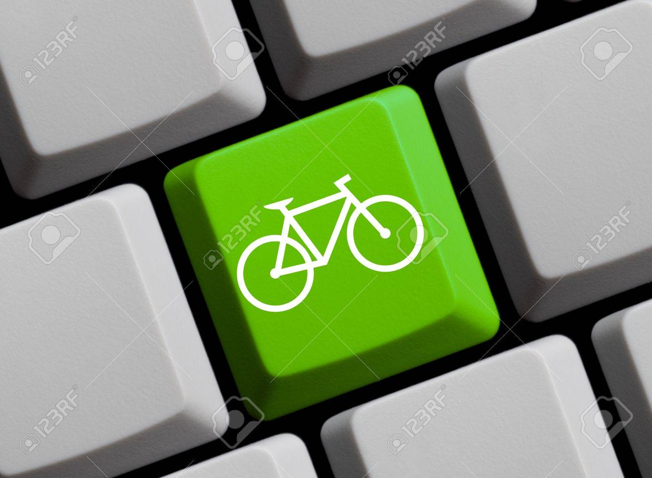 Bicycle Symbol On Keyboard Stock Photo Picture And Royalty Free