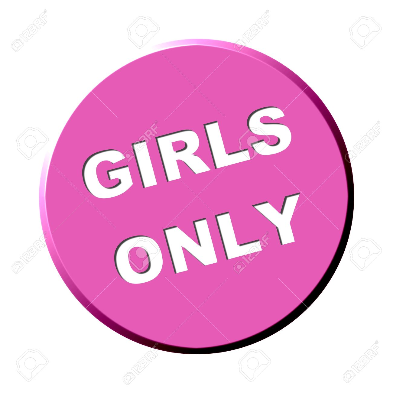 Some Pink Button - Girls Only Stock Photo, Picture And Royalty ...