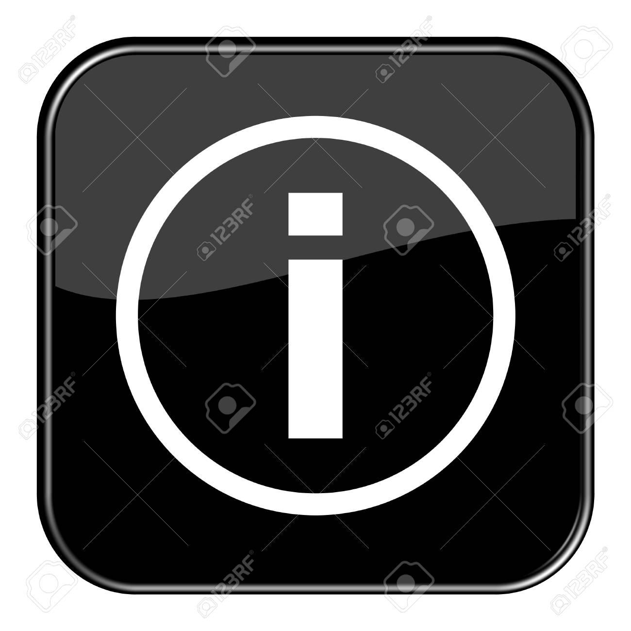 Glossy Button black - Info Stock Photo - 13758411