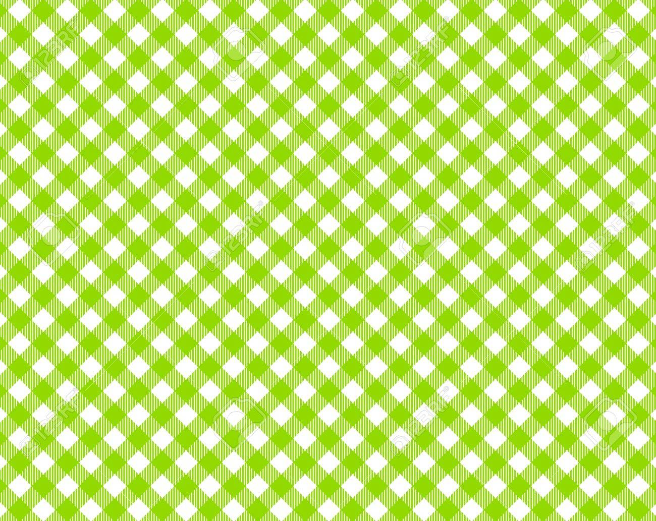 Green White Checkered Tablecloth With Diagonal Stripes Stock Photo, Picture  And Royalty Free Image. Image 17445180.