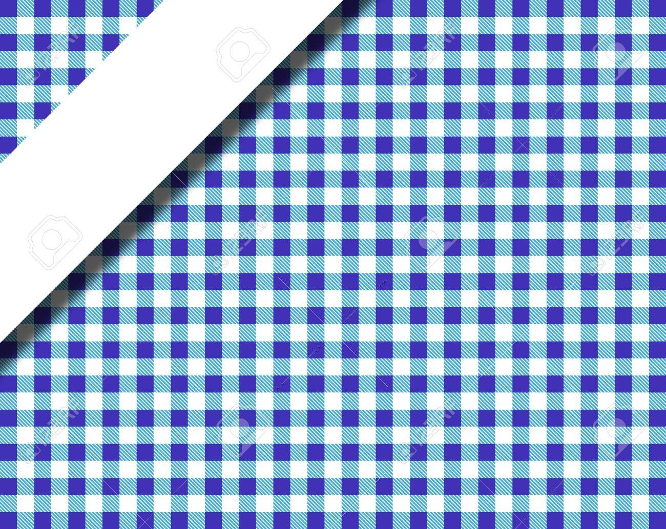 Tablecloths Pattern In Blue And White Stripes With Text Stock Photo    18874121