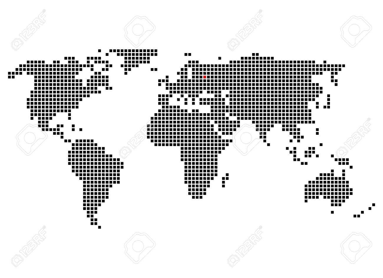 World Map With Position Of Moscow Stock Photo Picture And Royalty