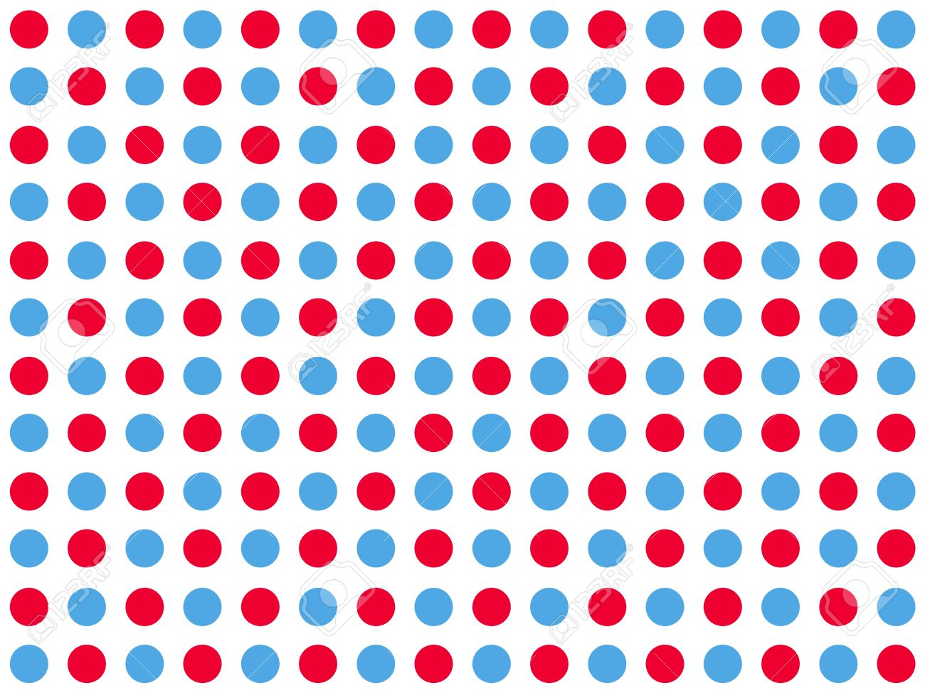 Traditional Dotted Wallpaper With Red And Blue Dots White